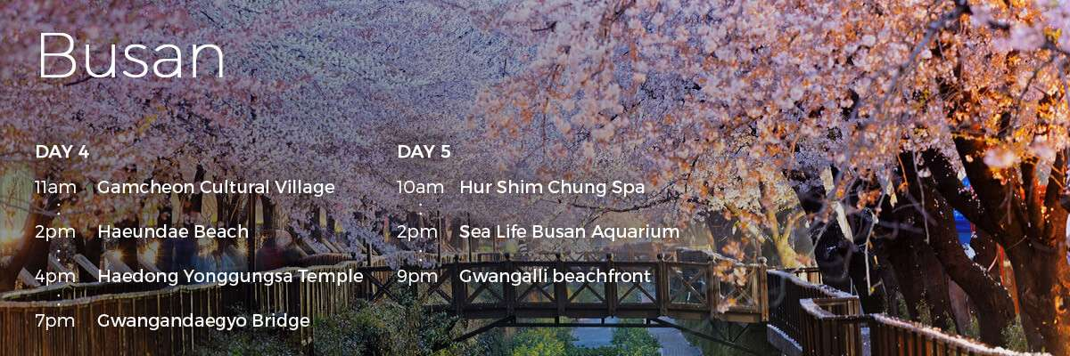 Check out our Busan itinerary