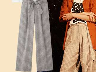 Women's Belted Linen Cotton Wide Straight Pants at $49.90
