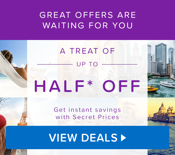 Great offers are waiting for you. A treat of up to Half* Off.