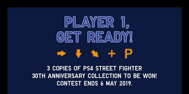 3 copies of PS4 Street Fighter 30th Anniversary collection to be won!