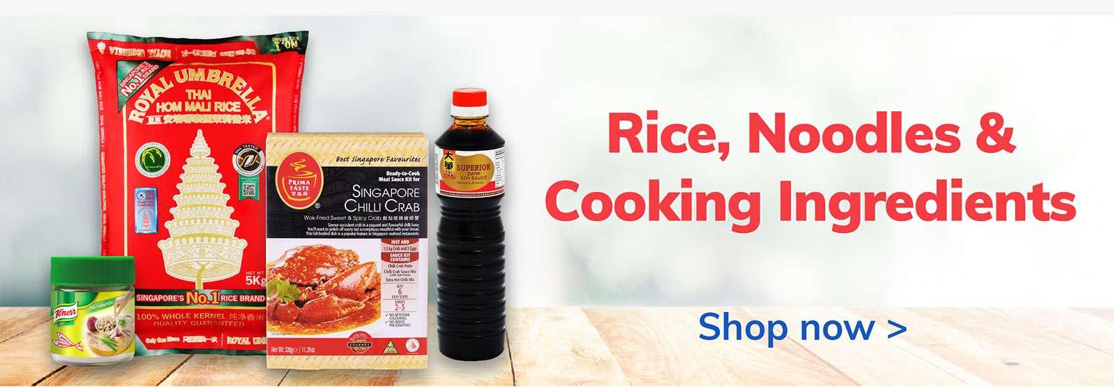 Rice, Noodles, Cooking Ingredients
