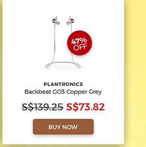 PLANTRONICS Backbeat GO3 Copper Grey