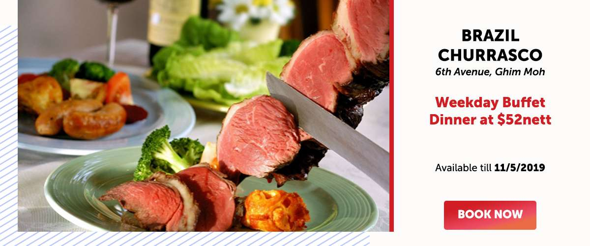 Brazil Churrasco - Weekday Buffet Dinner at $52nett