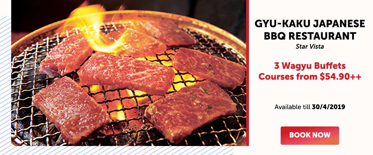 Gyu-Kaku Japanese BBQ Restaurant (Star Vista) - 3 Wagyu Buffets Courses from SGD54.90++