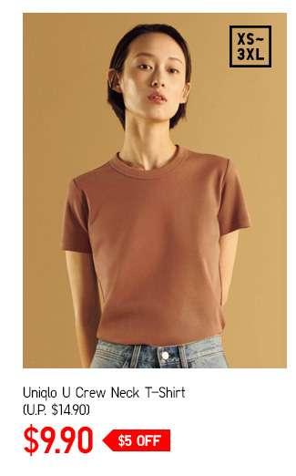 Women's Uniqlo U Crew Neck Short Sleeve T-Shirt at $14.90