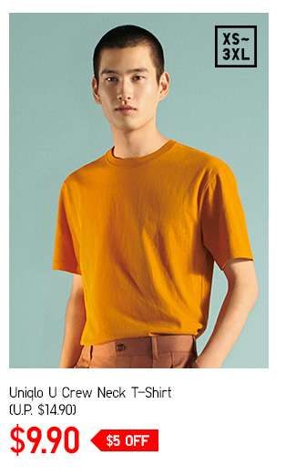Men's Uniqlo U Crew Neck Short Sleeve T-Shirt at $14.90