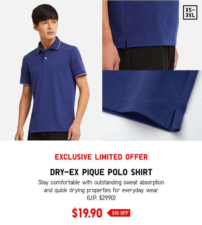 DRY-EX Pique Polo Shirt at $19.90