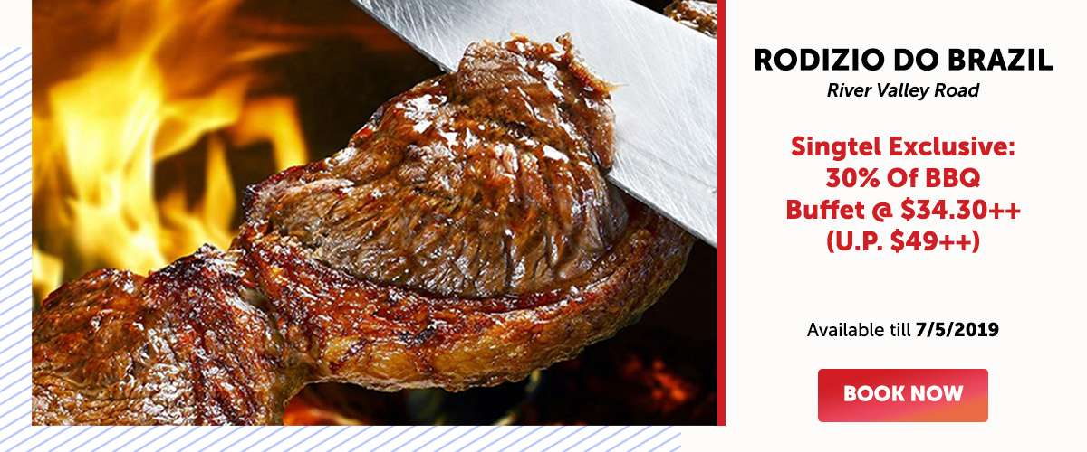 Rodizio Do Brazil - Singtel Exclusive: 30% Of BBQ Buffet @ $34.30++ (U.P. $49++)