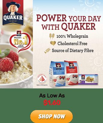 Quaker: As Low As $1.60. Shop Now!