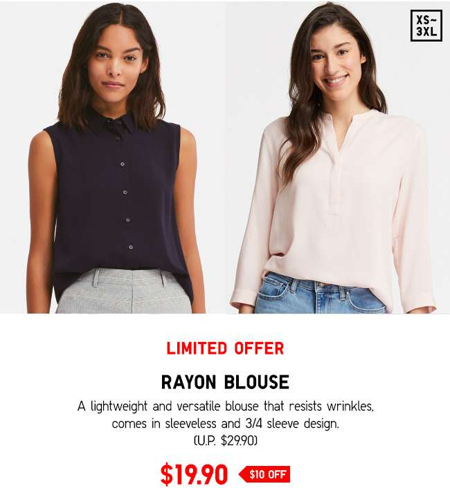 Rayon Blouse at $19.90