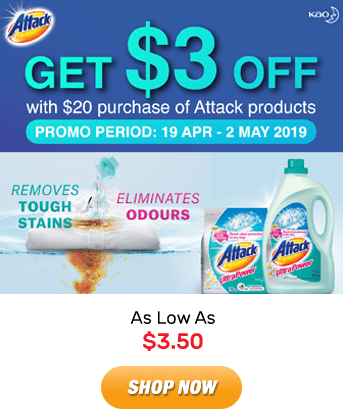 Attack: As Low As $3.50. Shop Now!