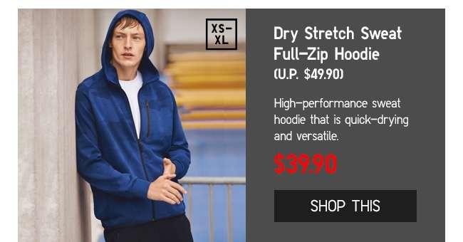 Dry Stretch Swear Full-Zip Hoodie at $49.90
