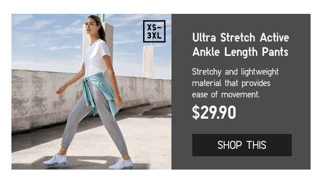 Ultra Stretch Active Ankle Length Pants at $29.90