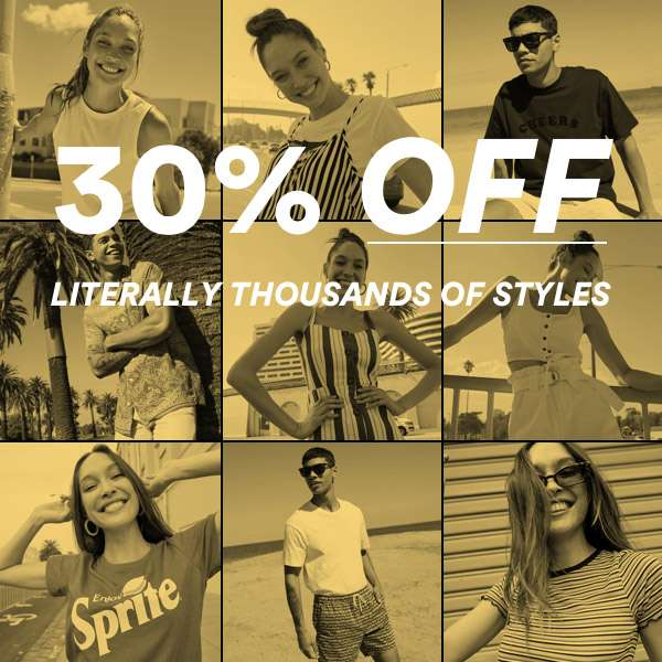 30% OFF 1000s of Styles | Shop Now