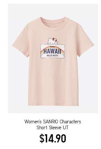 Women's SANRIO Characters Short Sleeve UT $14.90