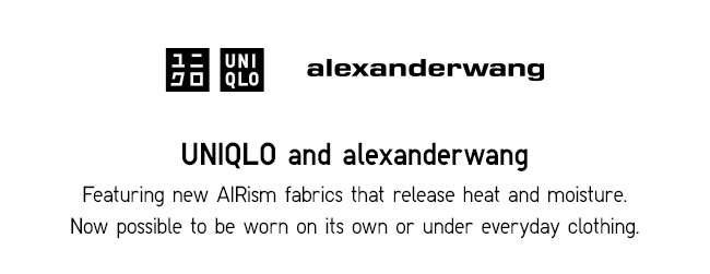 Uniqlo and alexander wang