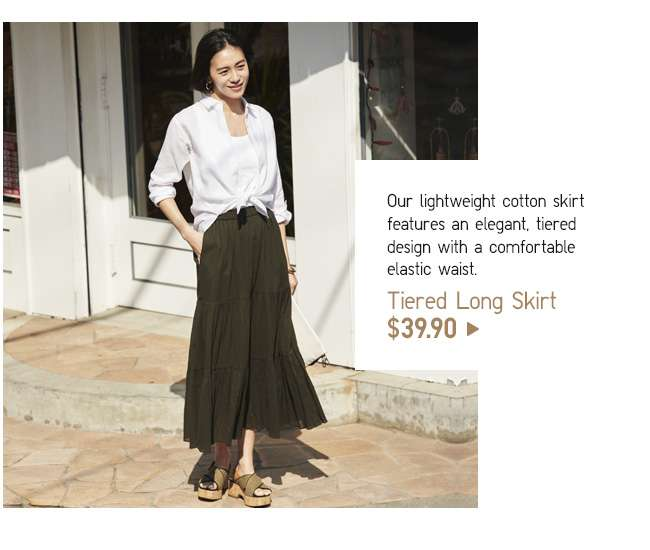 Tiered Long Skirt at $39.90