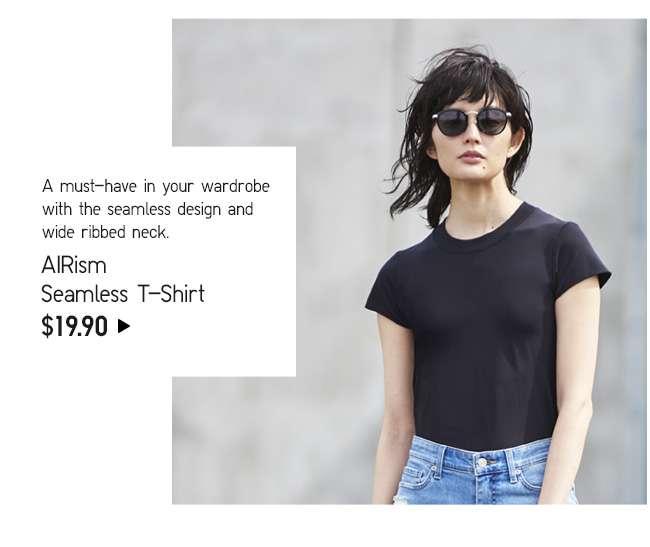 AIRism Seamless Short Sleeve T-Shirt at $29.90