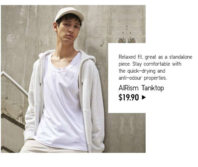 AIRism TankTop at $19.90