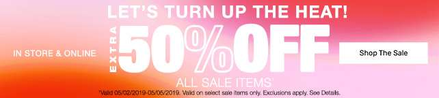 50% Off Sale Items
