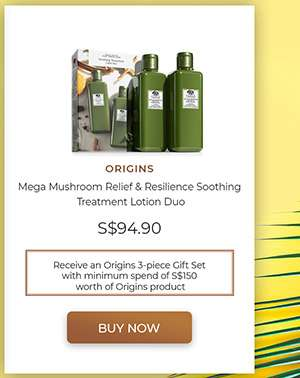 ORIGINS Mega Mushroom Relief & Resilience Soothing Treatment Lotion Duo