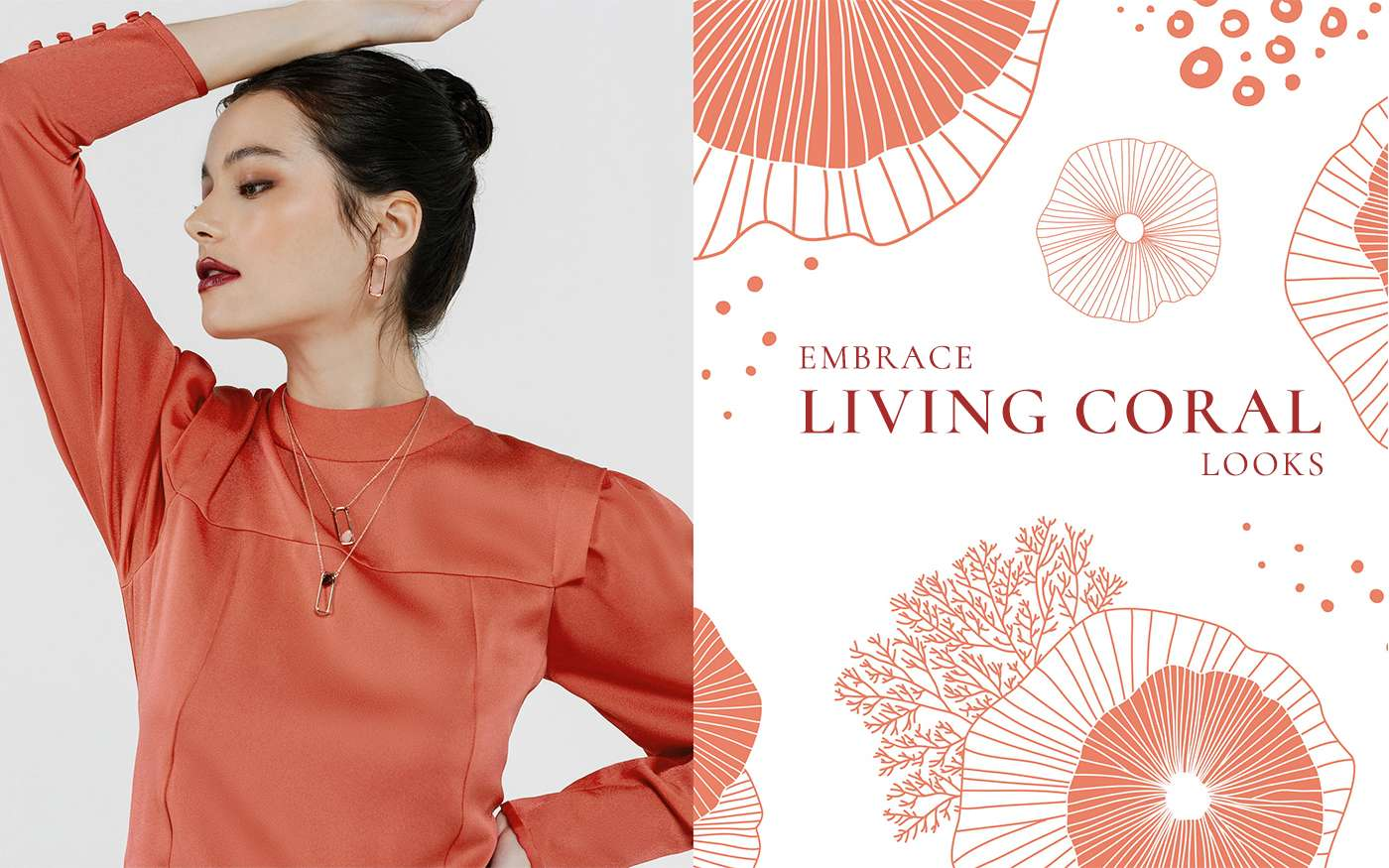 Embrace Living Coral Looks