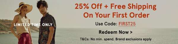 Limited Time Only: 25% Off + Free Shipping On Your First Order with code FIRST25 (no min spend). Redeem Now