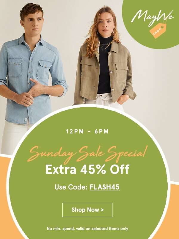 Sunday Sale Special: Extra 45% Off