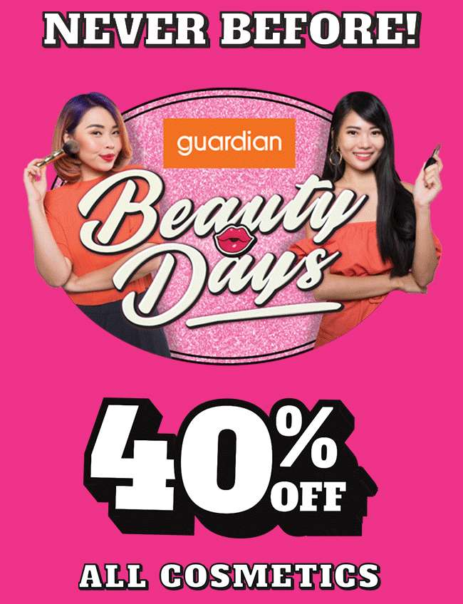 Shop now for 40% off ALL Cosmetics!