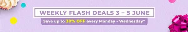 weekly flash deals 3 – 5 June