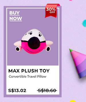 Max Plush Toy Convertible Travel Pillow
