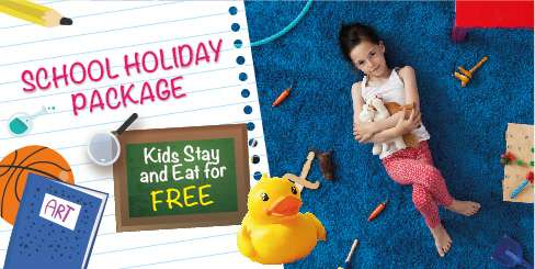 KIDS STAY AND EAT FOR FREE!