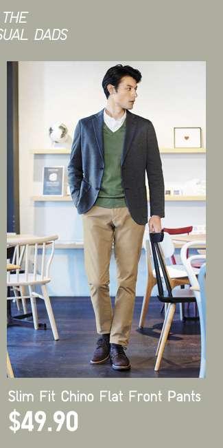 Slim Fit Chino Flat Front Pants at $39.90
