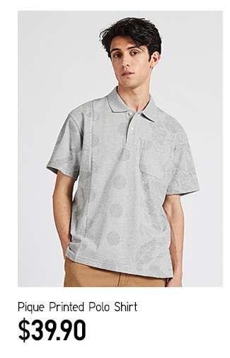 DRY Pique Printed Polo Shirt at $39.90