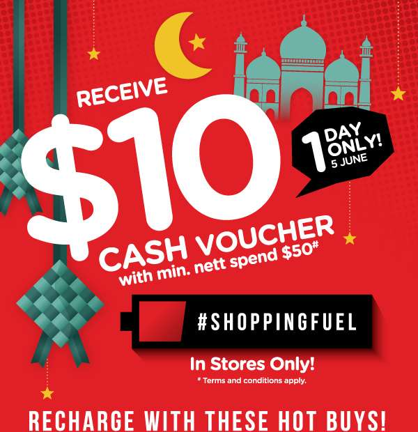 1 day only $10 Shopping Fuel