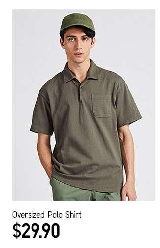 Oversized Polo Shirt at $29.90