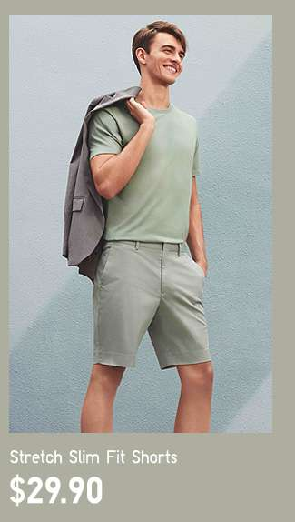 Stretch Slim Fit Shorts at $29.90