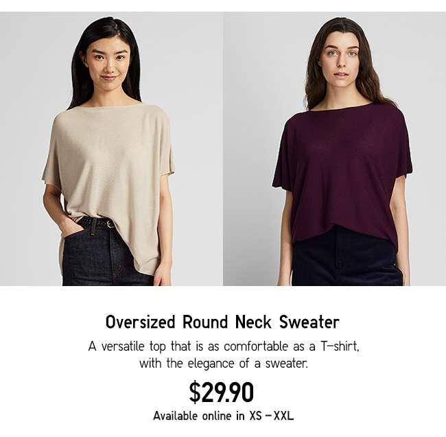 Oversized Round Neck Sweater at $29.90