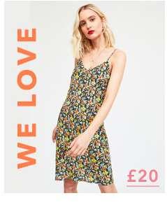 Multi Colour Floral Print Camisole Slip Mini Dress