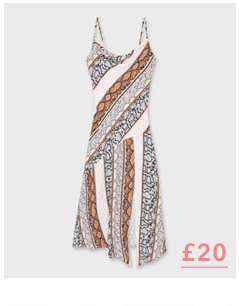 Grey Snake Print Slip Midi Dress