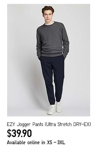 EZY Jogger Pants at $39.90
