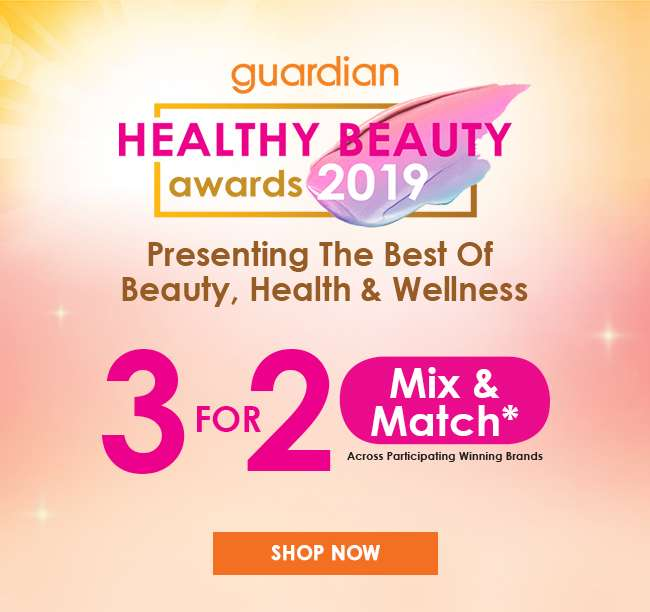 Shop 3 For 2 Mix & Match under Guardian Healthy Beauty Awards 2019