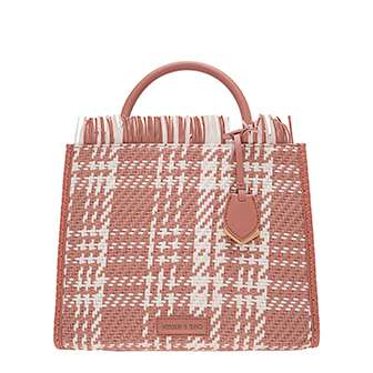FRAYED WOVEN TOTE BAG