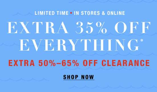 Extra 35% off Everything + Extra 50-65% off Clearance
