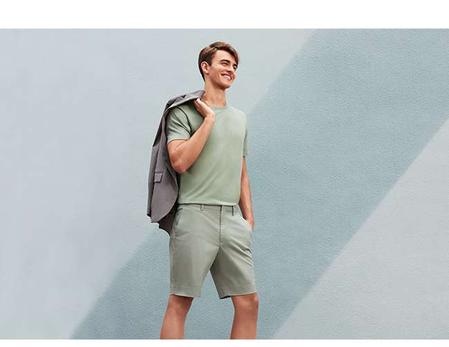 Men's Stretch Slim Fit Shorts at $19.90