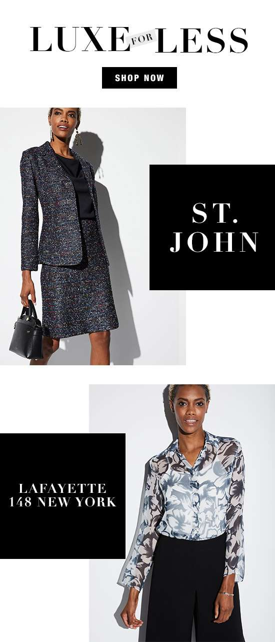 Women's apparel from St. John and Lafayette 148 New York