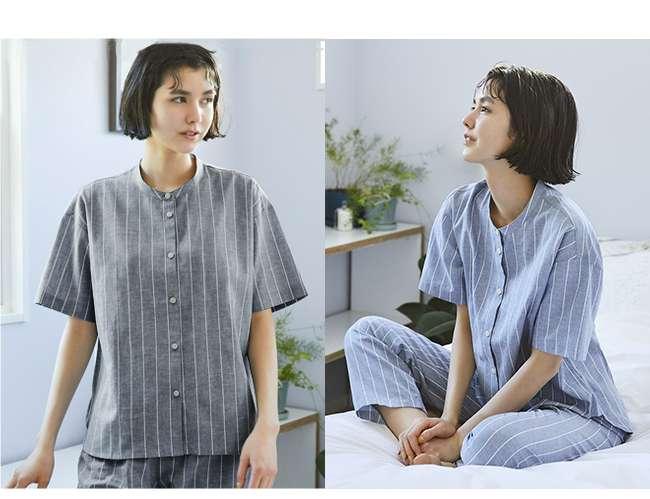 Women's Cotton Linen Short Sleeve Pajamas at $29.90