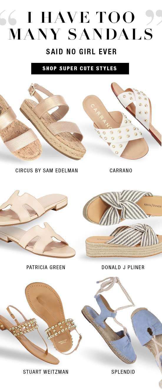 Women's sandals from Stuart Weitzman, Donald J Pliner, Circus by Sam Edelman, and more