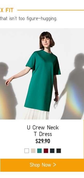 Relax Fit | Women's U Crew Neck T Dress at $29.90