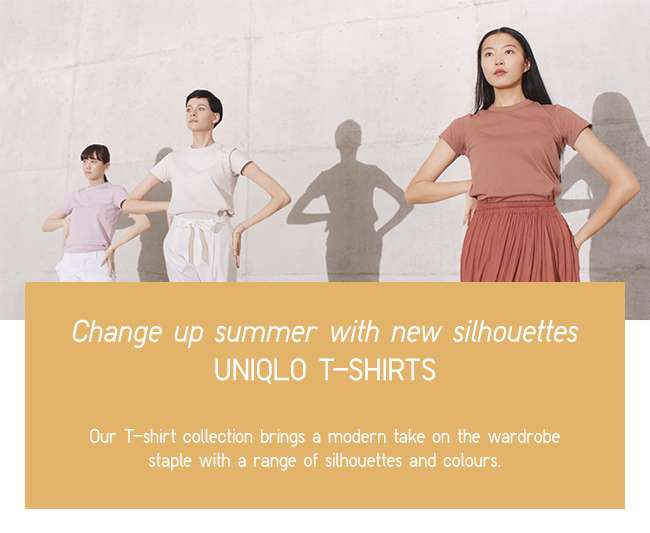 UNIQLO T-shirts | Change up summer with new silhouettes